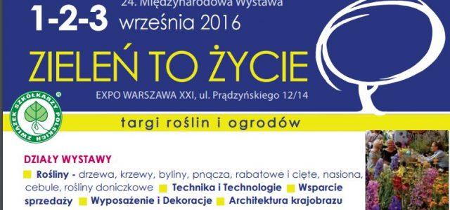 Zapraszamy do udziału w 24. Międzynarodowej Wystawie ZIELEŃ TO ŻYCIE, która odbędzie się w dniach 1-3 września 2016 r. w Expo XXI WARSZAWA, przy ul. Prądzyńskiego 12/14 w Warszawie. Międzynarodowa […]